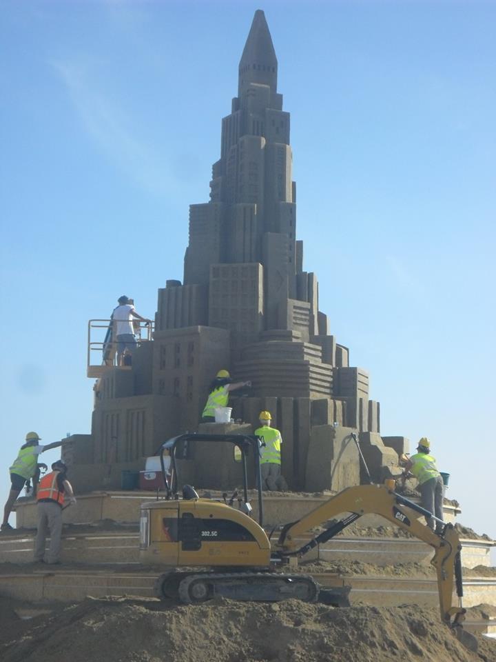 12-метрова кула от пясък