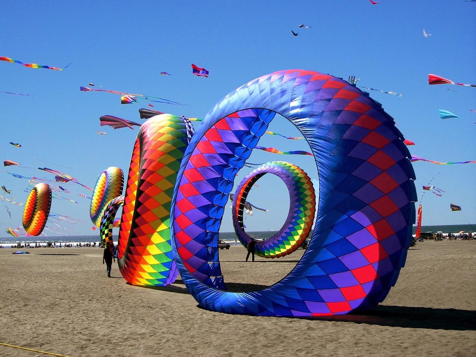 Международен фестивал на хвърчилата, Гуджарат, Индия.