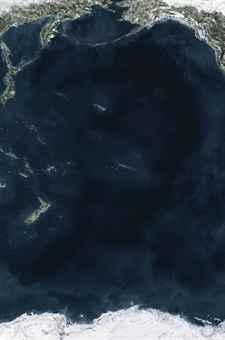 Andreas Gursky, Ocean V (2010) Лео ди Каприо
