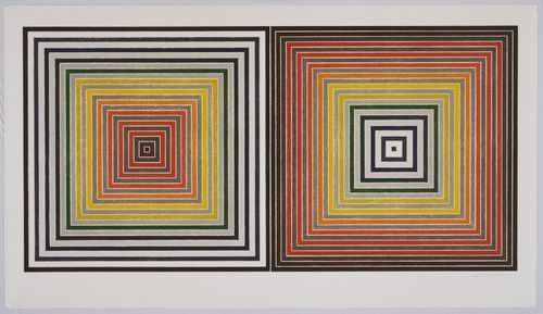 Frank Stella, Double Gray Scramble (1973) лео ди каприо