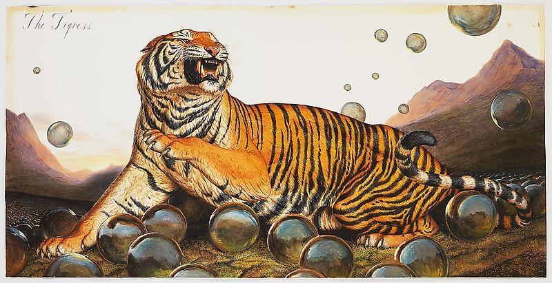 Walton Ford, The Tigress (2013) Лео ди Каприо