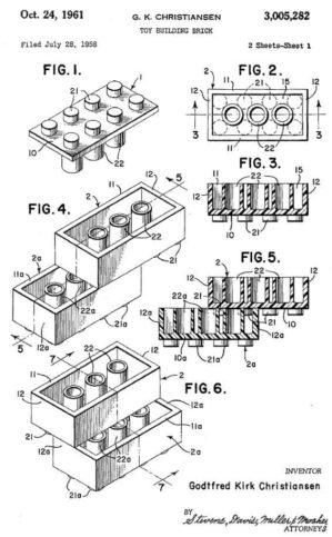 патент на лего