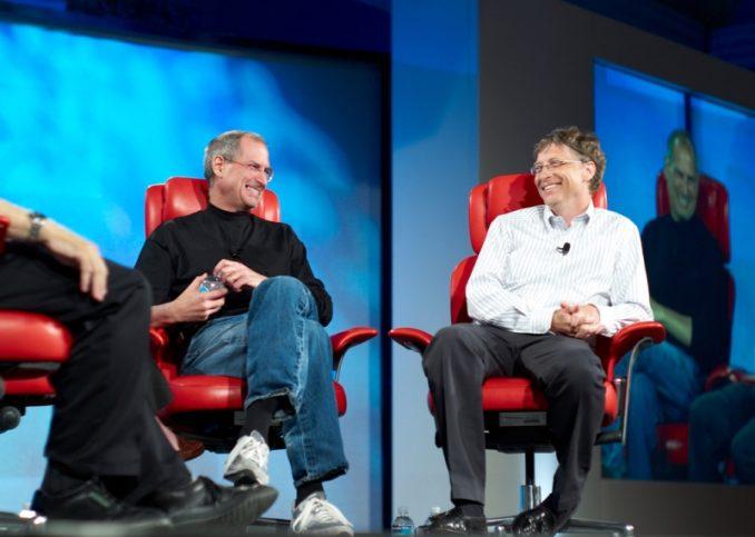 Бил Гейтс Стив Джобс