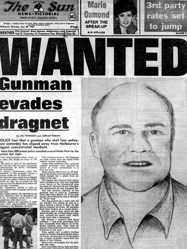 How 'The Sun' newspaper would go on to cover the chaotic night of gunplay.