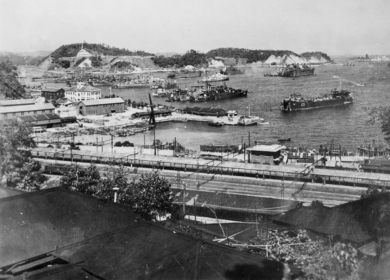 US_and_Japanese_ships_at_Yokosuka_1945