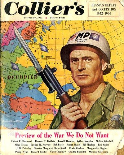 Корицата на броя на Collier's, посветен на хипотетичната Трета световна война.
