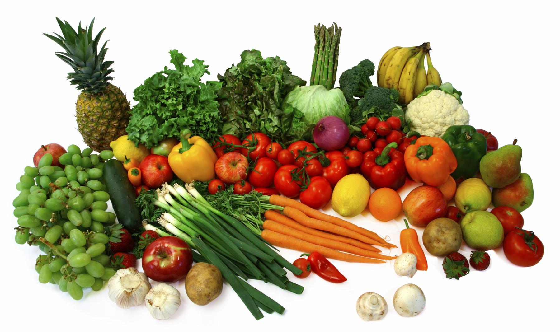 пресни плодове и зеленчуци преди сън