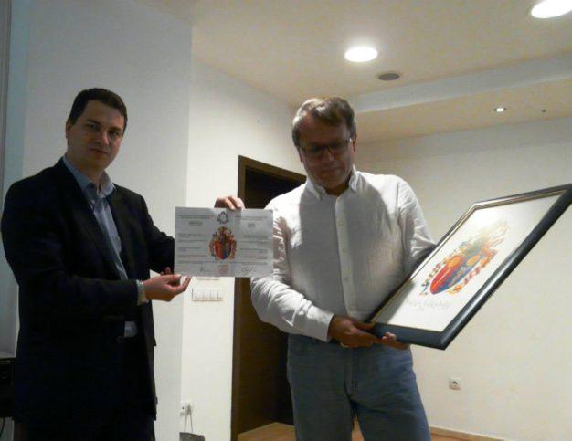 връчване на герба на Николай Хаджидончев