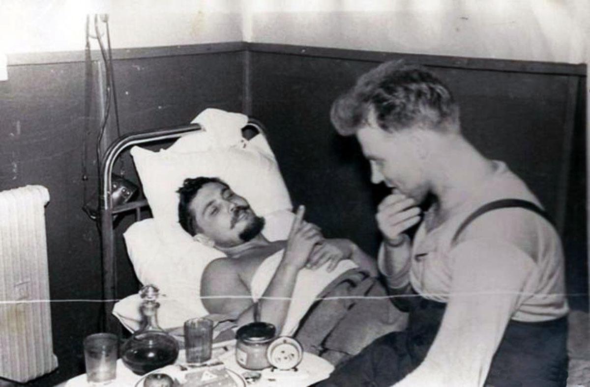 Dr. Leonid Rogozov operating himself to remove his appendix in Antarctica, 1961 (1)