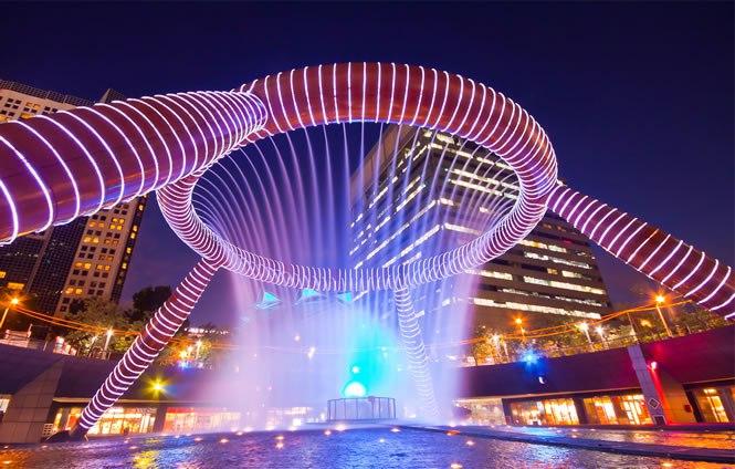 Фонтанън на богатството в Сингапур