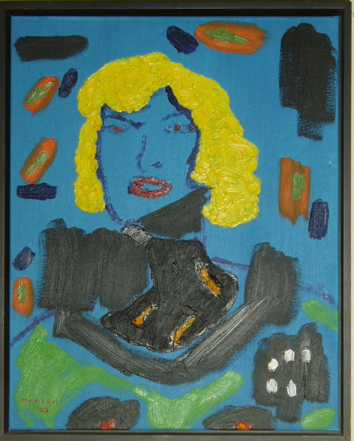 """Картината """"COULDABEEN MARILYN TODAY"""" е част от колекцията на Музея на лошо изкуство. Нарисувана от Роджър Хансън през 2003 г."""