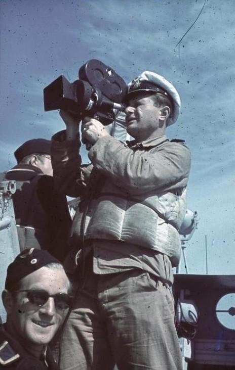 Mittelmeer, Horst Grund mit Kamera