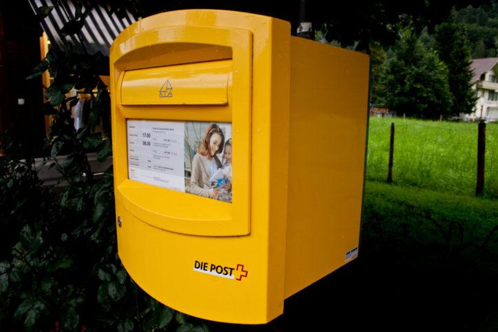пощенска кутия в Швейцария