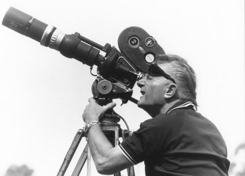 Horst Grund mit Filmkamera