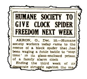 Статия съобщаваща за ултиматума поставен от Природозащитното дружество в Акрън, Охайо.