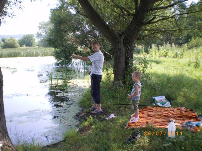 Едно от любимите занимания на Марин и неговия син е да ходят за риба