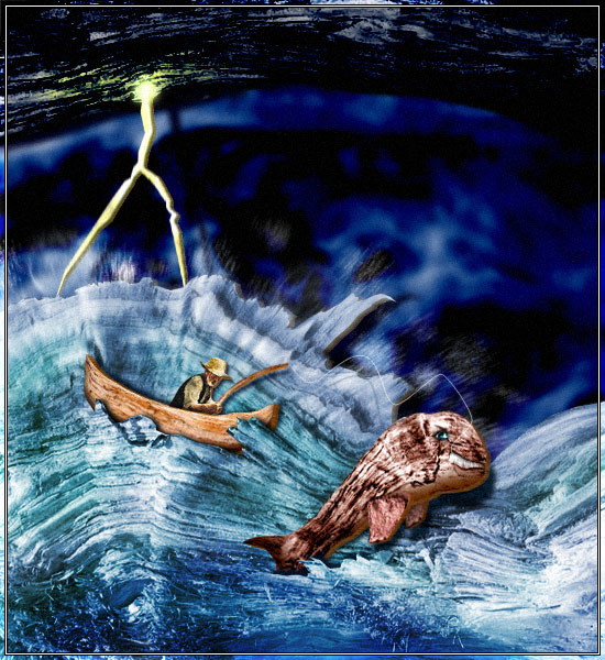 """""""Старецът и морето"""" - илюстрация"""