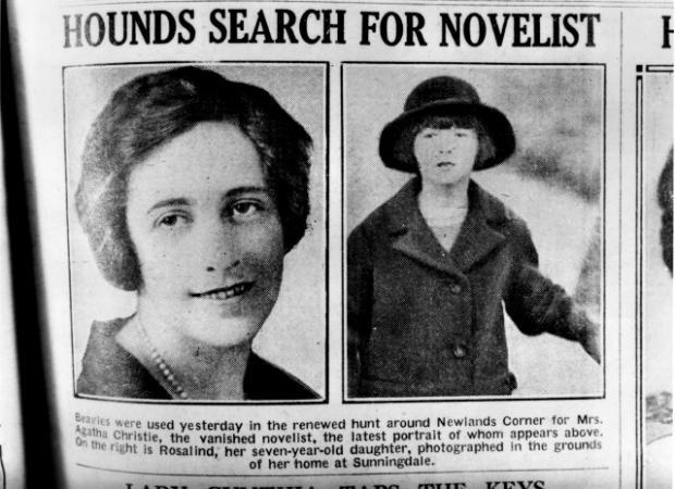 Мистерията с изчезването на писателката.