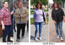 отслабване - преди и сега