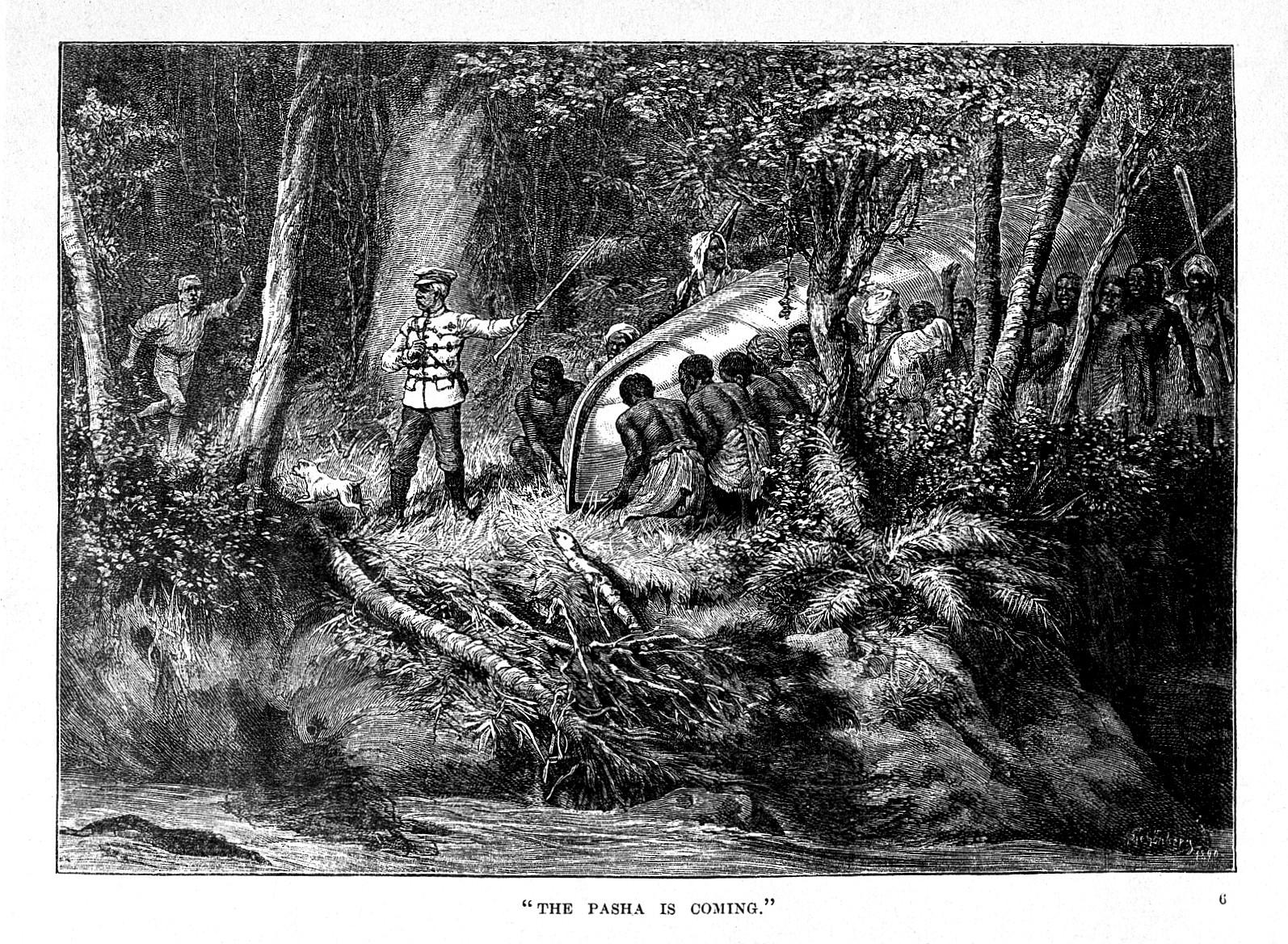 Хенри Мортън Стенли с експедицията си.