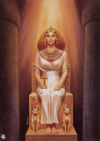 Изображение на богинята Бастет