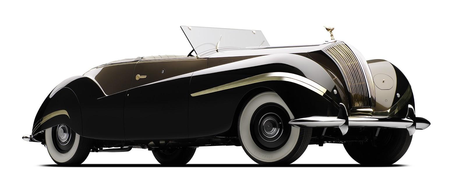 1939 Rolls-Royce Phantom III Cabriolet проектиран от Жан-Анри Лабурдет.