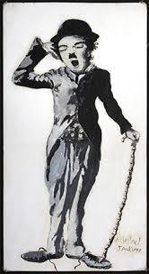 Чарли Чаплин - нарисуван от Майкъл Джаксън.