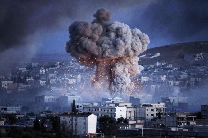 експлозия в Кобани