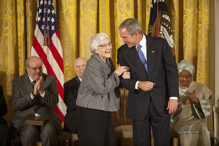 През 2007 г. с Джордж Буш.