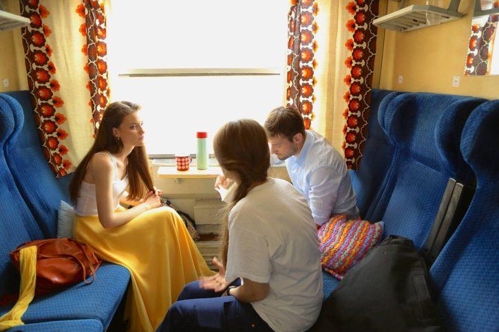 Снимка от работния процес на филма.