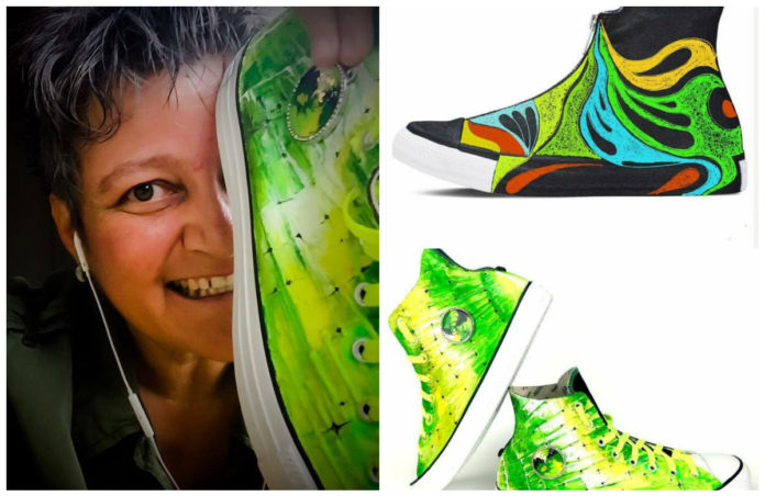 рисувани обувки