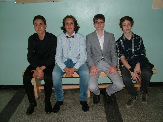 Приятели! Калоян, Мартин, Даниел и Борис