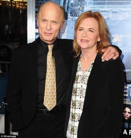 Ед Харис със съпругата си Ейми Мадигън.