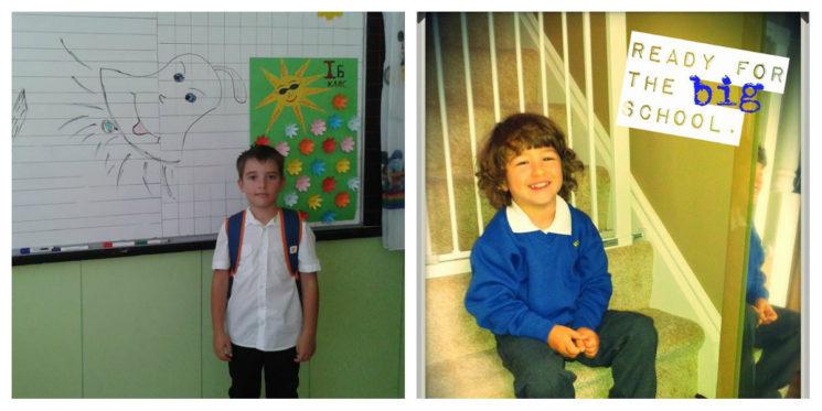 Марти учи в България, а Юли посещава училище в Англия.