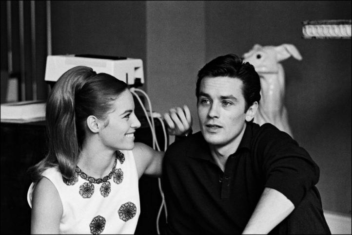Ален Делон с първата си съпруга Натали Делон.