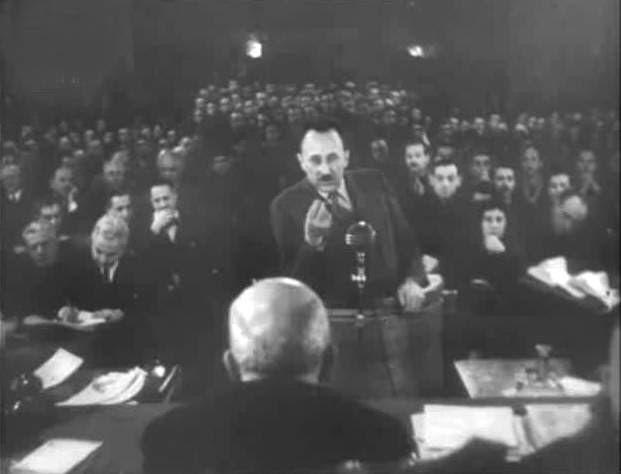 Принц Кирил Преславски пред Народния съд.