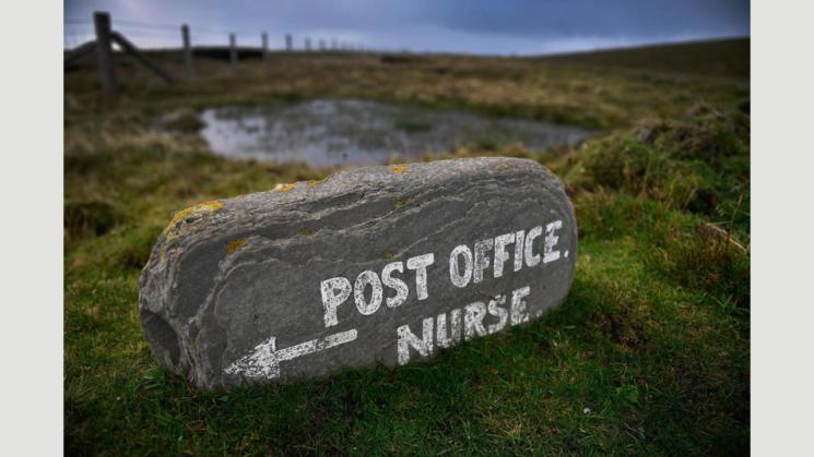 Ето така изглеждат табелите на шотландския остров.