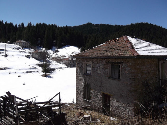 зима - село