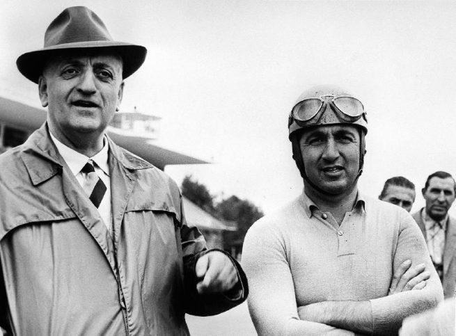 Алберто Аскари и Енцо Ферари.
