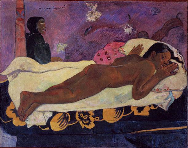 Spirit-of-the-Dead-Watching-1892-Paul-Gauguin
