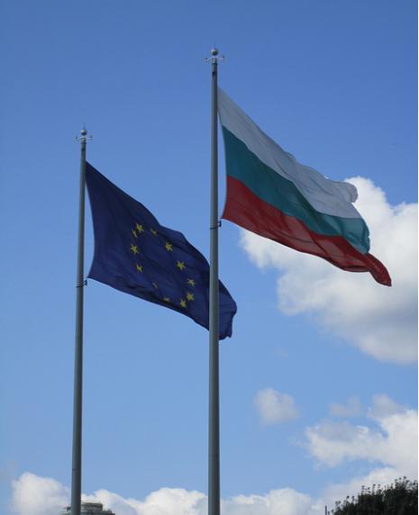 Two-Flags-European-Union-and-Bulgaria