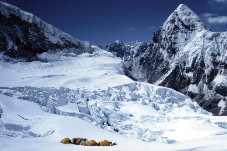 Еверест - най-високият връх в света.