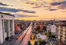 Статуята на София от птичи поглед
