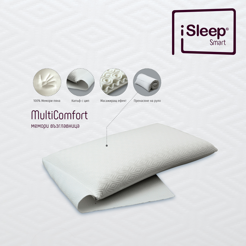 iSleep MultiComfort възглавница добър сън