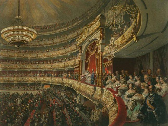 Такава е била атмосферата по време на представление в театъра през 1856 г.