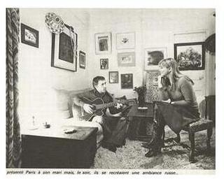 Владимир и Марина в дома им във Франция.