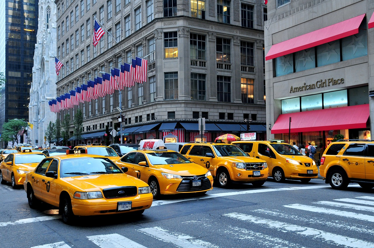 Ню Йорк такси мръсен въздух