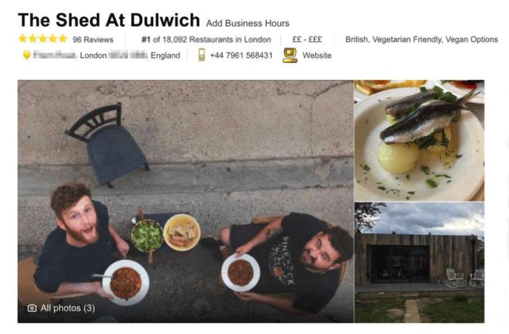 Фалшив отзив за несъществуващия ресторант. Снимка: VICE