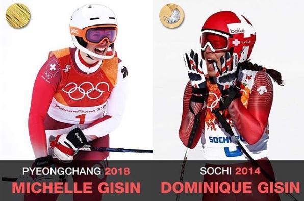 Мишел и Доминик. Колаж: Instagram/olympics
