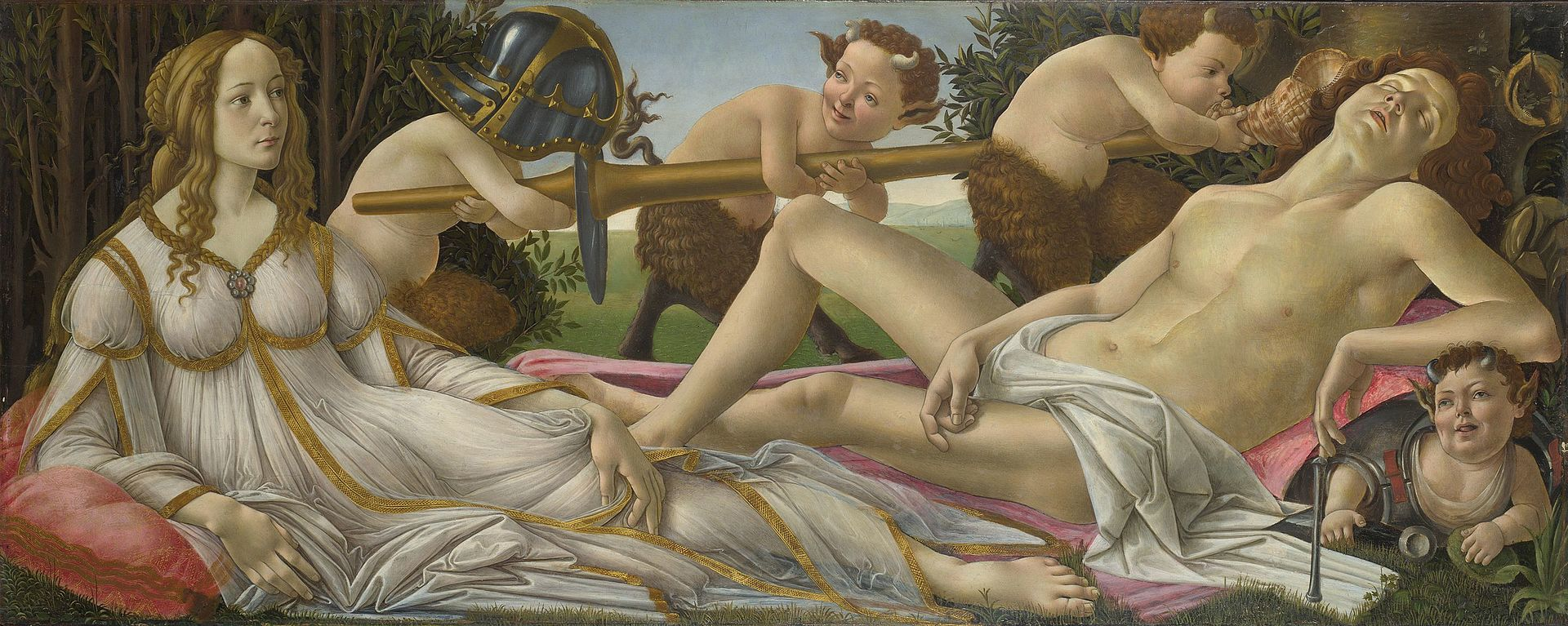 Ботичели Венера и Марс